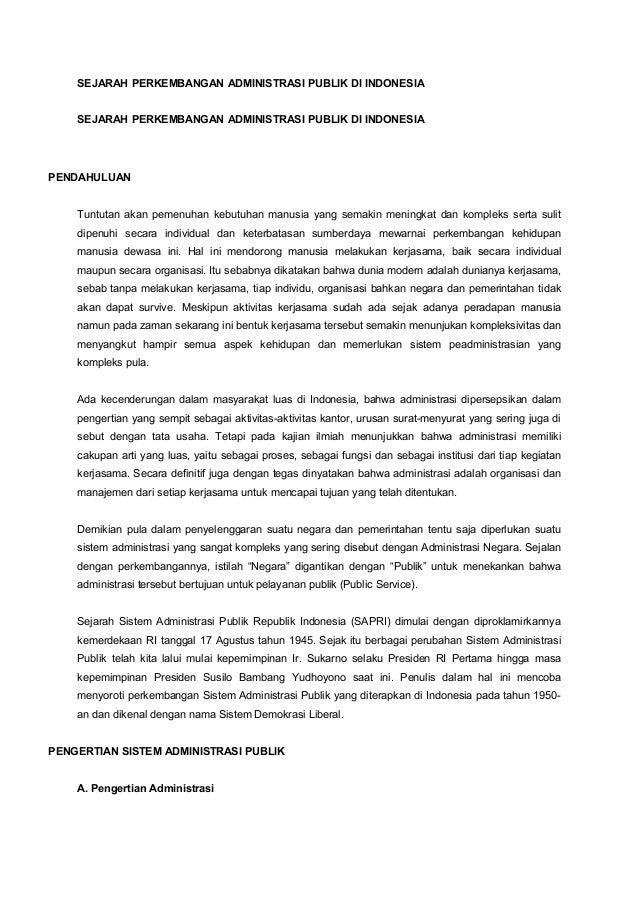 SEJARAH PERKEMBANGAN ADMINISTRASI PUBLIK DI INDONESIA    SEJARAH PERKEMBANGAN ADMINISTRASI PUBLIK DI INDONESIAPENDAHULUAN ...