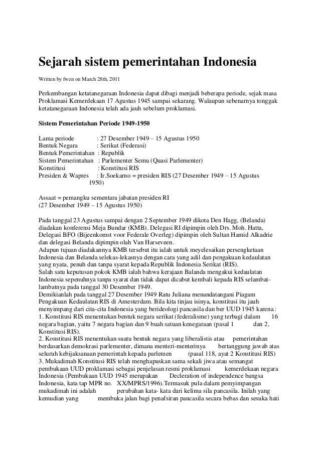 Sejarahsistempemerintahanindonesia 111205195822-phpapp01
