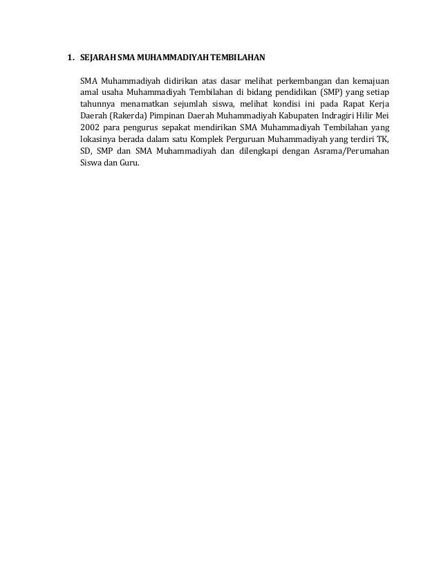 Sejarah sma muhammadiyah tembilahan
