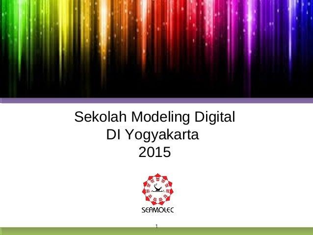 Presentasi Sekolah Modeling Digital DI Yogyakarta
