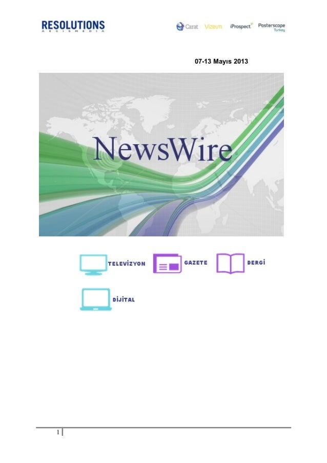 Sektör Haberleri 13 Mayıs 2013