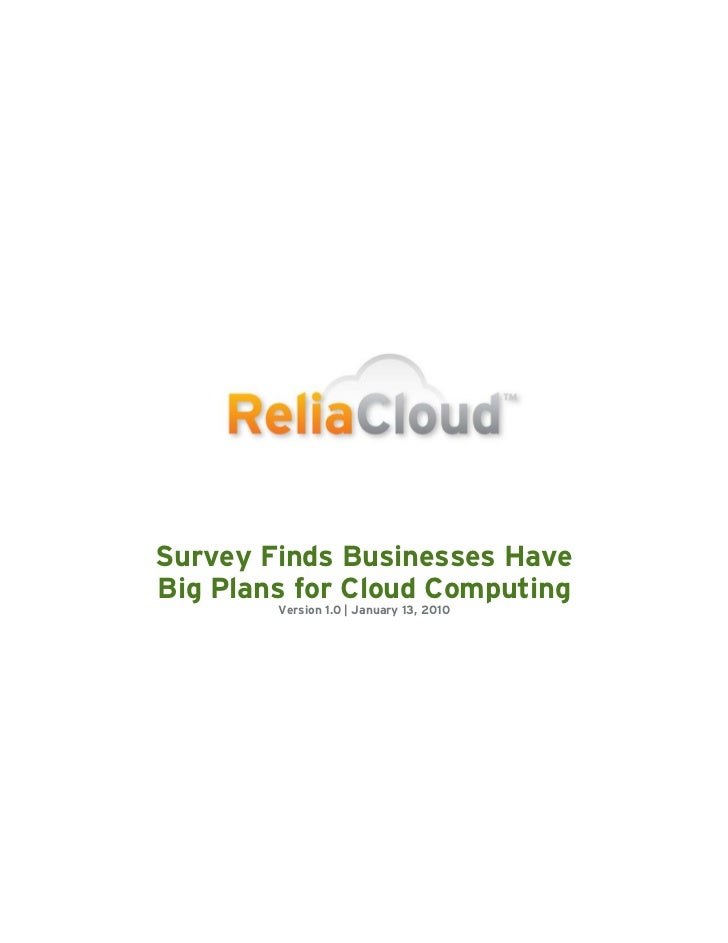 Selas Turkiye Cloud Computing Survey It Spending Heavily By Relia Cloud
