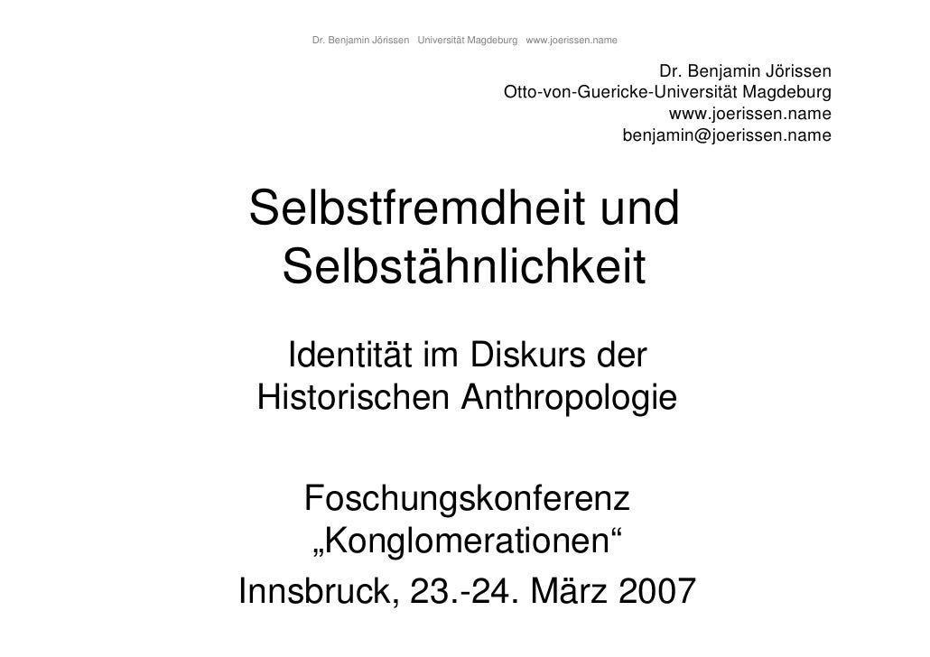 Dr. Benjamin Jörissen Universität Magdeburg www.joerissen.name                                                            ...