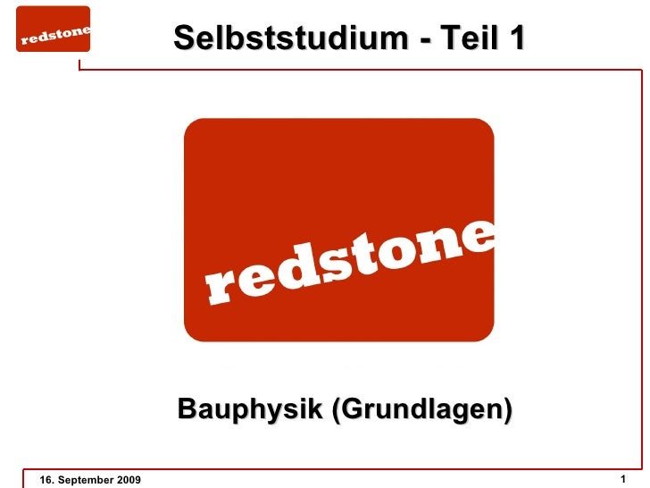 Selbststudium Teil 1 3   Redstone Basisseminar 04 09 09