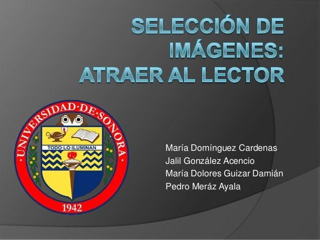 María Domínguez CardenasJalil González AcencioMaría Dolores Guizar DamiánPedro Meráz Ayala