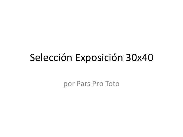 Selección Exposición 30x40       por Pars Pro Toto