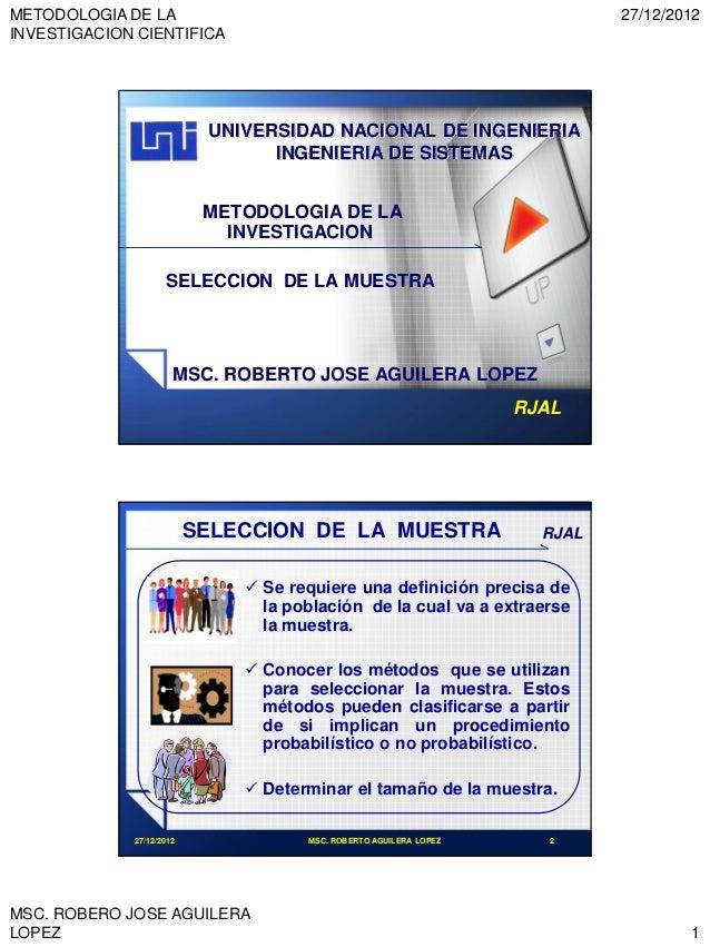 METODOLOGIA DE LA                                                           27/12/2012INVESTIGACION CIENTIFICA            ...