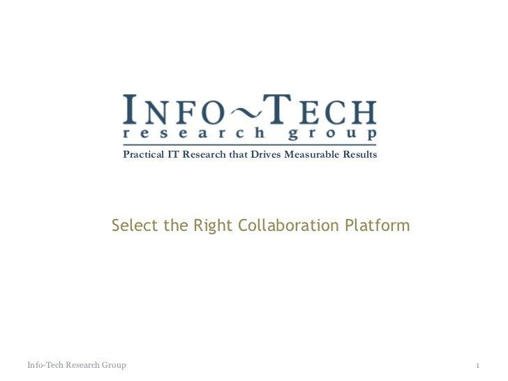 Select collaboration platform