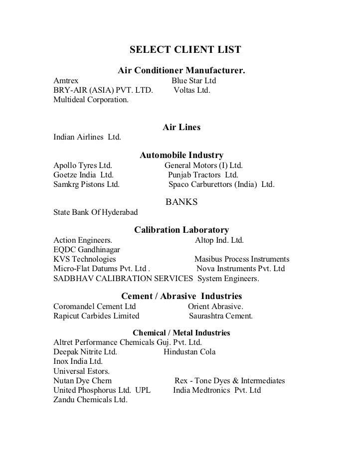 Select Client List Ics