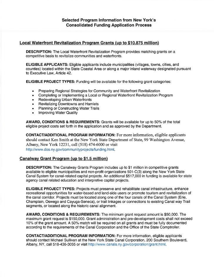 Selected grant programs