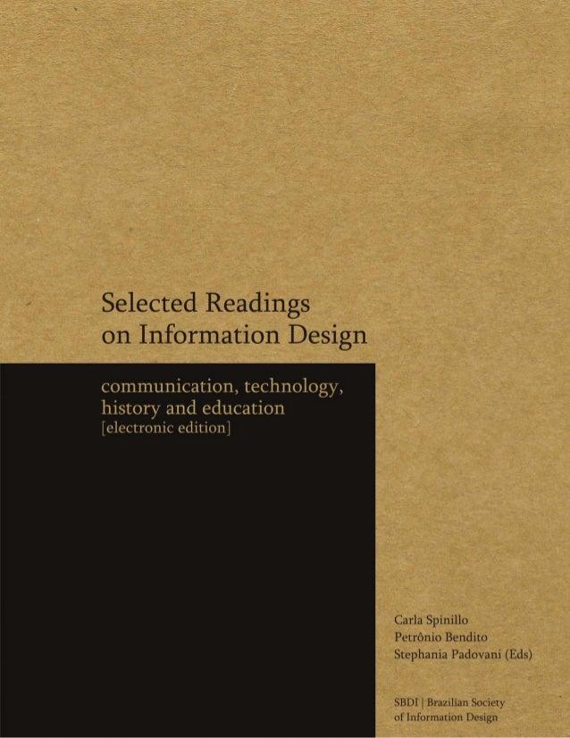 Carla G. Spinillo, Petrônio Bendito & Stephania Padovani [Eds.]Selected Readingson Information Designcommunication, techno...