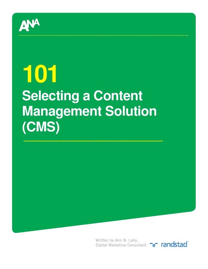 Selecting A Cms 101