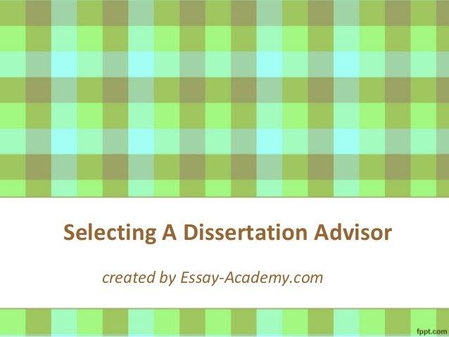 Dissertation advising pay