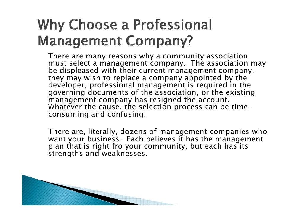 Community association management business plan