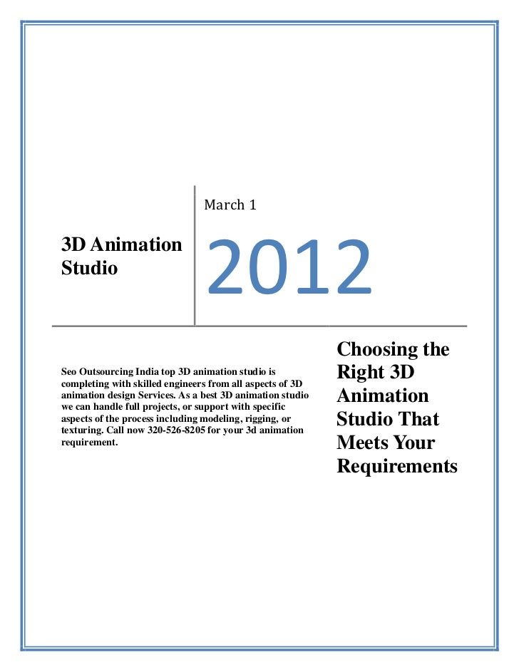 March 13D AnimationStudio                                2012                                                           Ch...