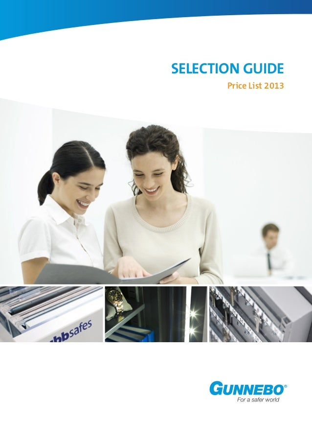 Selection Guide Price List 2013