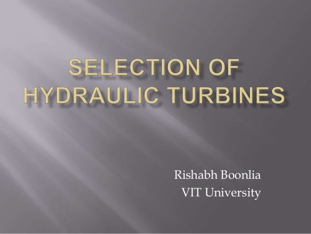 Selection of gas turbines
