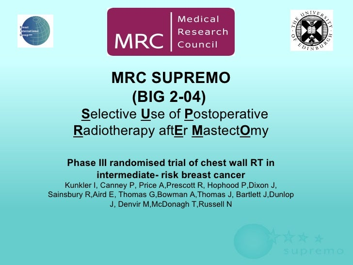 Selective Use Of Postoperative Radiotherapy AftEr MastectOmy