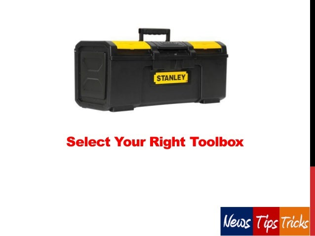 Select Your Right Toolbox