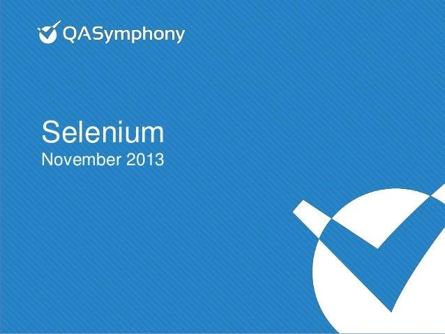 Selenium November 2013