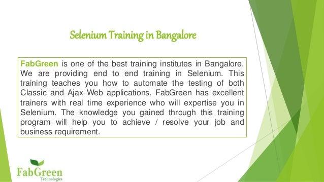 Selenium Webdriver Training In Bangalore