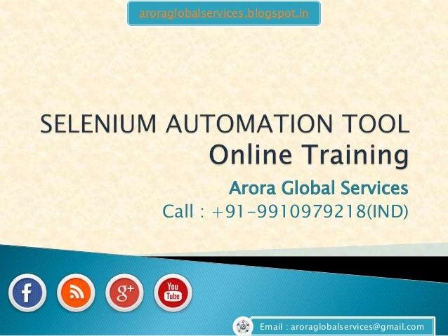 Selenium-online-training