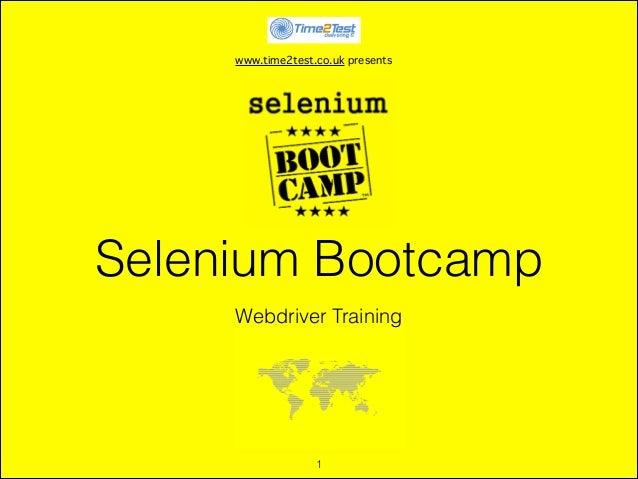 Selenium bootcamp slides