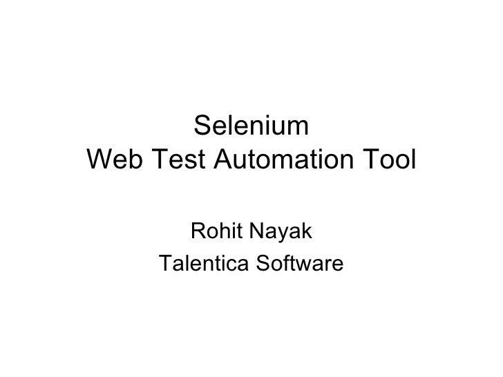 Introduction to Selenium