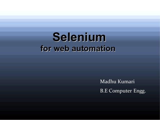 Selenium presentation