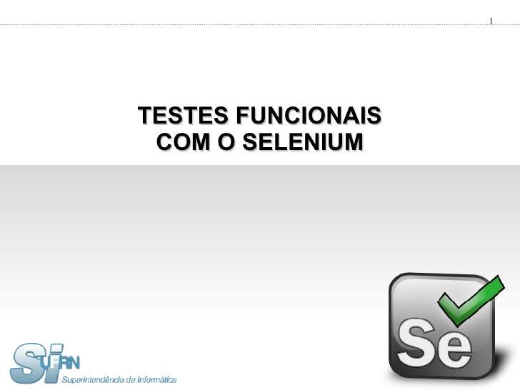Testes Funcionais com Selenium