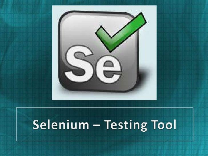 Selenium – testing tool jack
