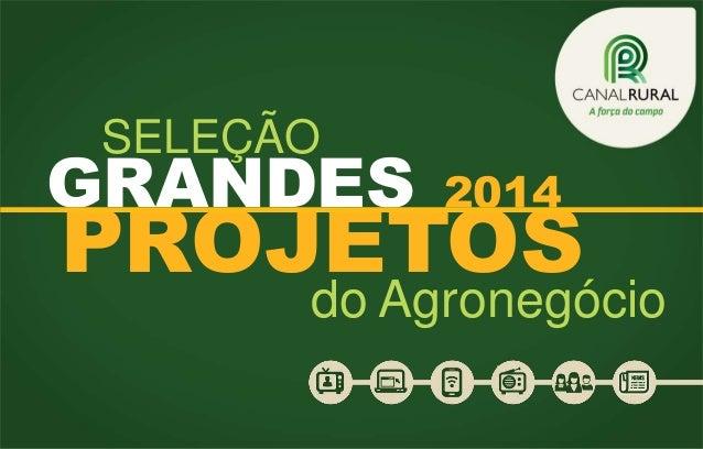 SELEÇÃO  GRANDES  2014  PROJETOS  do Agronegócio
