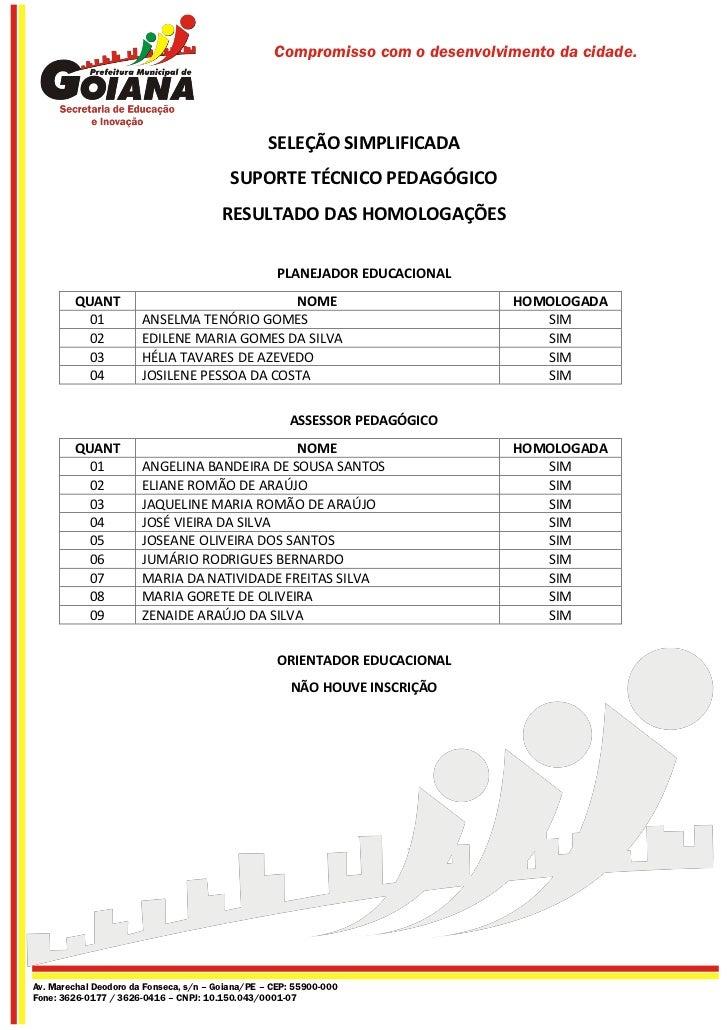 Seleção simplificada 2012   homologação candidatos