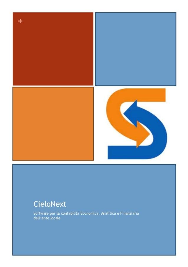 +    CieloNext    Software per la contabilità Economica, Analitica e Finanziaria    dell'ente locale