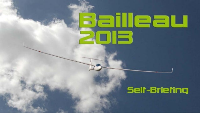 Bailleau 2013 Self-Briefing