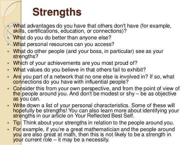 an analysis of personal strengths Critical analysis on findings tom rath's strengths finder 20 identified my five greatest strengths through an on-line reflection paper on strengths finder 2.