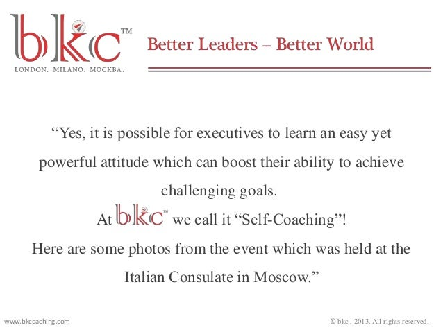 """Yes, it is possible for executives to learn an easy yet powerful attitude which can boost their ability to achieve challe..."