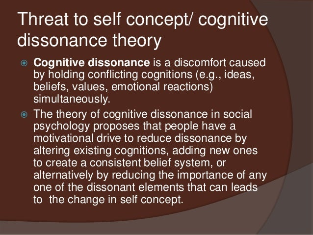 theory of planned behavior cognitive dissonance theory and self perception Theory of planned behavior's positive evaluation of self theory of planned behavior is based on cognitive processing and and festinger's dissonance theory.