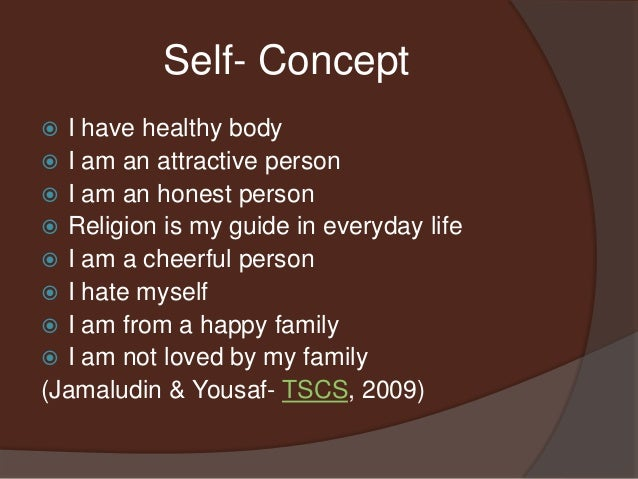formation of self concept
