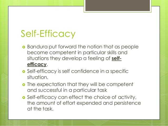 bandura self efficacy