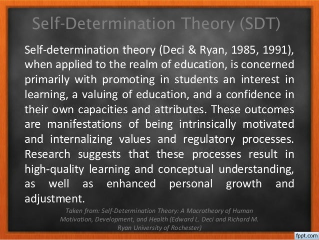 self determination theory essay Explore the latest articles, projects, and questions and answers in self-determination theory, and find self-determination theory experts.