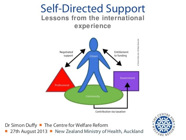 Self-Directed Support Dr Simon Duffy ■ The Centre for Welfare Reform ■ 27th August 2013 ■ New Zealand Ministry of Health, ...