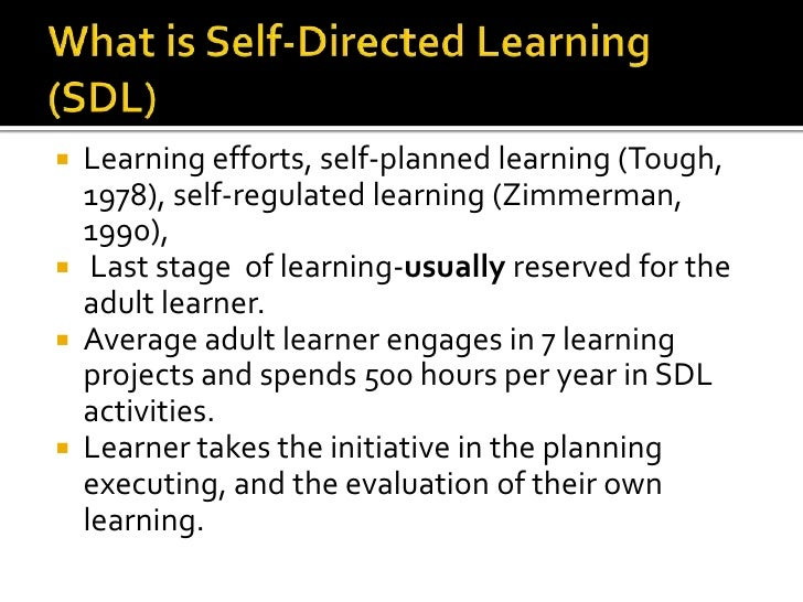 Something self direction as an adult learner