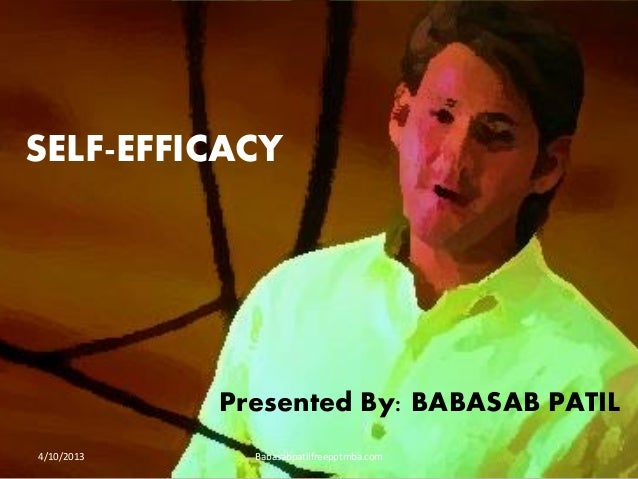 Self efficacy ppt OF HR MANAGEMENT MBA