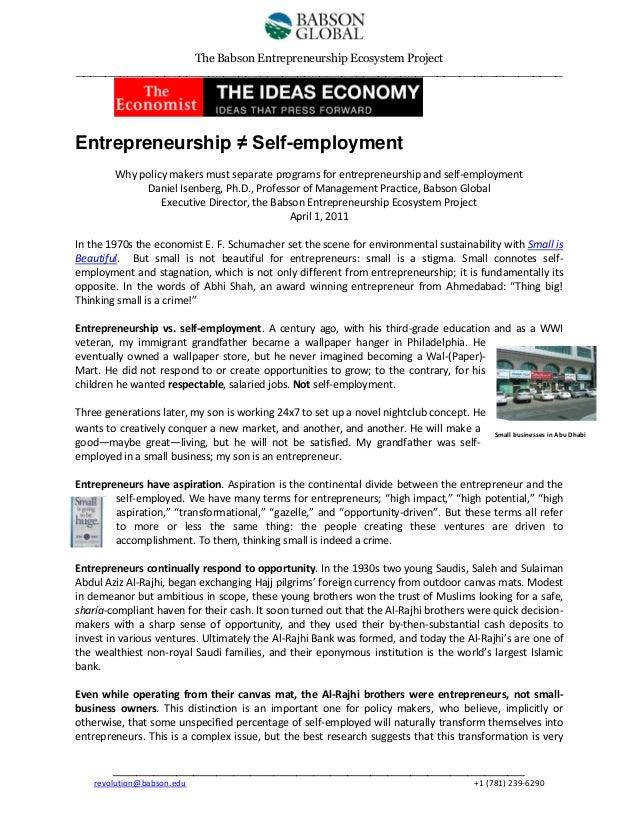 The Babson Entrepreneurship Ecosystem Project __________________________________________________________________  Entrepre...