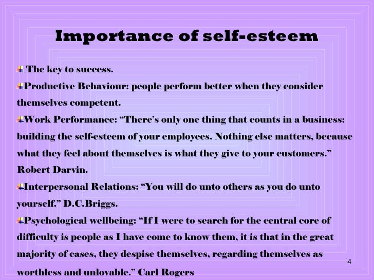 Importance of Self-Confidence