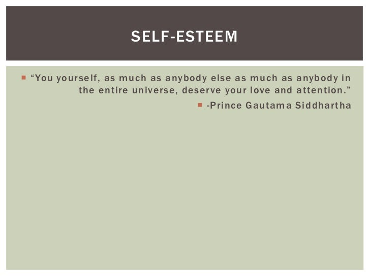 Self esteem and character pp