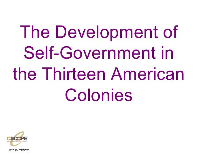 Self govtin colonies