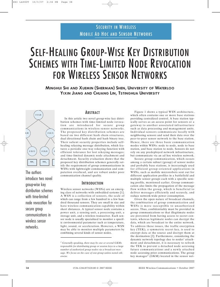SECURITY IN WIRELESS                                                                       MOBILE AD HOC AND SENSOR NETWOR...