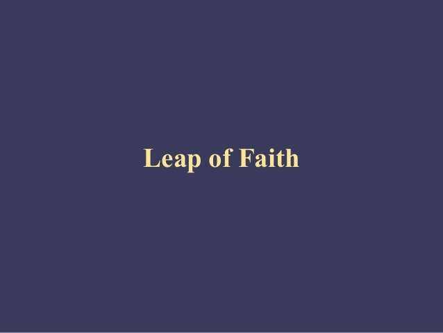 Self management leap-of_faith
